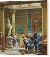 Rehearsal Of The Fluteplayer And The Diomedes Wife In The Atrium Of The Pompeian House Of Prince Wood Print