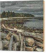 Reid Beach Wood Print