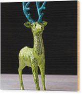 Reindeer Christmas Card Wood Print