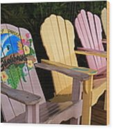 Relax Here Wood Print