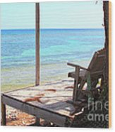Relax Porch Wood Print