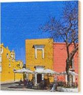 Relaxing In Colorful Puebla Wood Print