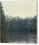 Relaxing Lake Landscape Wood Print
