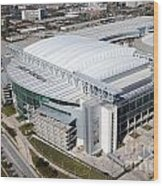 Reliant Stadium In Houston Wood Print