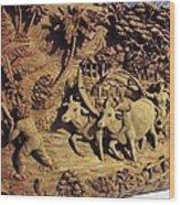 Relief Art Wood Print