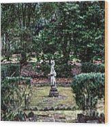 Religion In The Garden Wood Print