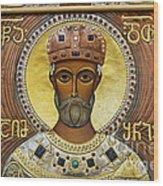 Religious Art Inside The Tsminda Sameba Cathedral Wood Print by Robert Preston