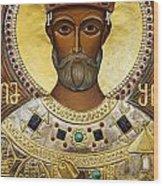 Religious Art Inside The Tsminda Sameba Cathedral Tbilisi Wood Print