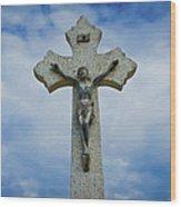 Religious Cross Wood Print