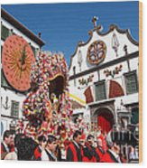 Religious Festival In Azores Wood Print