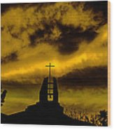 Religious Moment Wood Print