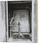 Religious Window Wood Print