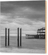 Remains Of The West Pier In Brighton Wood Print