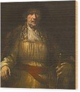 Rembrandt Self Portrait Wood Print