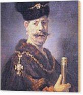 Rembrandt's A Polish Nobleman Wood Print