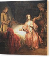 Rembrandt's Joseph Accused By Potiphar's Wife Wood Print