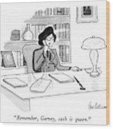 Remember, Garvey, Cash Is Queen Wood Print