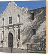 Remember The Alamo Wood Print