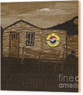 Remember When - Old Pepsi Sign Wood Print