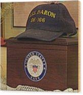 Remembering De-166 Uss Baron Wood Print