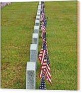 Remembering Veteran's Day Wood Print