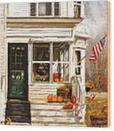 Remembering When- Porches Art Wood Print