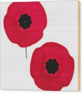 Remembrance Day Poppies Wood Print