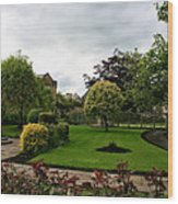 Remembrance Park - In Bakewell Town Peak District - England Wood Print