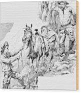 Remington Cowboys, 1887 Wood Print