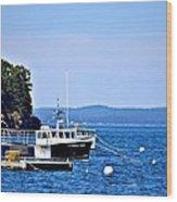 Remington Lobster Boat Wood Print