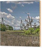 Remleys Point Bridge View Wood Print