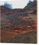 Remnants Of A Catastrophe Wood Print