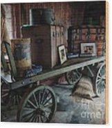Remnants Of A Rr Station Wood Print