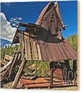 Remnants Of The Colorado Gold Rush Wood Print