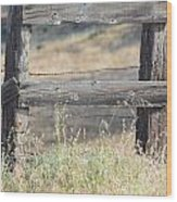 Remote Fence Wood Print