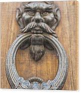 Renaissance Door Knocker Wood Print
