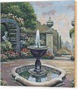 Renaissance Garden Wood Print