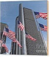 Rencen And Flags Wood Print