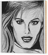 Renee Simonsen In 1984 Wood Print