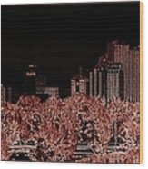 Reno Night Life Wood Print