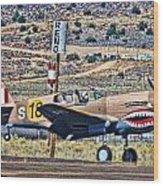 Reno Races 3 Wood Print