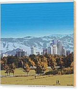 Reno Skyline Poster Wood Print