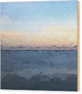 Renoir Style Digital Painting Stunning Long Exposure Seascape Image Of Calm Ocean At Sunset Wood Print