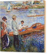 Renoir's Oarsmen At Chatou Wood Print