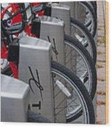 Rental Bikes Wood Print