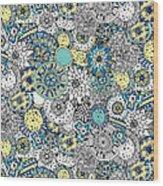 Repeat Print - Floral Burst Wood Print