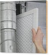 Replace Home Air Filter Wood Print
