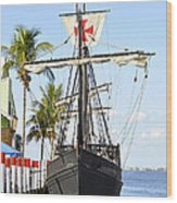 Replica Of The Christopher Columbus Ship Pinta Wood Print