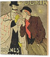 Reproduction Of A Poster Advertising Mothu And Doria In Impressionist Scenes Wood Print