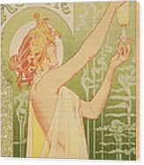 Reproduction Of A Poster Advertising 'robette Absinthe' Wood Print